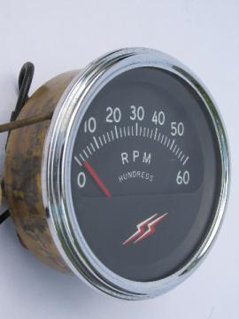6000 RPM tachometer gauge for marine 6 cycle outboard boat motor