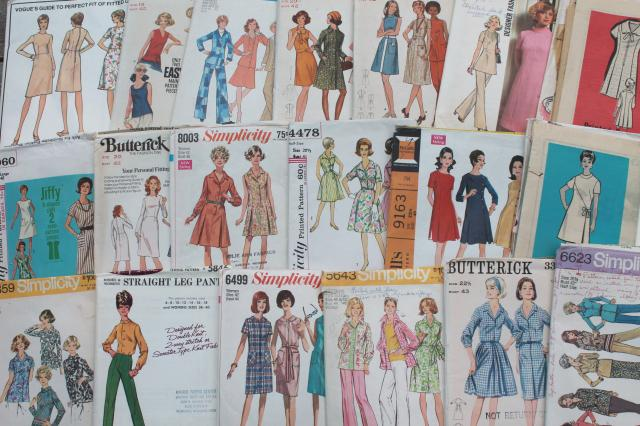 60s 70s retro vintage sewing patterns, plus size fashions ...