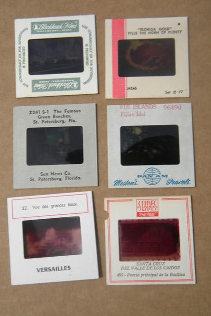 60s, 70s vintage 35mm photo slides, huge estate lot of 1000 vacation & travel slides