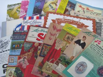 60s -70s vintage LeeWards craft & needlework catalogs lot, retro kits & designs