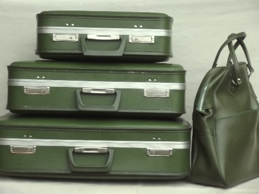 vintage luggage and suitcases
