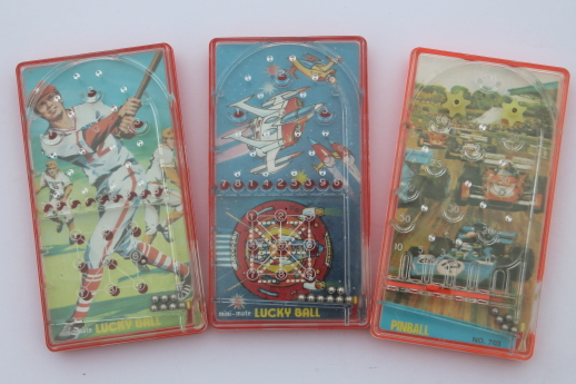 60s 70s Vintage Pinball Travel Or Pocket Size Plastic