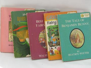 60s Dandelion library children's classic books w/ color illustrations