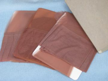 60s retro vintage nylon stockings lot, 6 pr never used, size 9 or 9 1/2