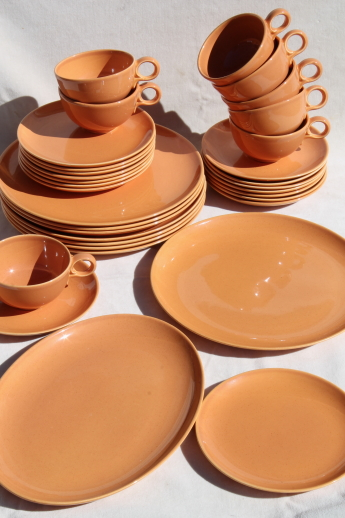 60s vintage burnt orange Pebbleford TS\u0026T pottery dinnerware set mod adobe terracotta color & vintage burnt orange Pebbleford TS\u0026T pottery dinnerware set mod ...