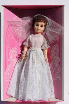 60s vintage Dream Bride 20 inch doll in original box, made in Hong Kong doll