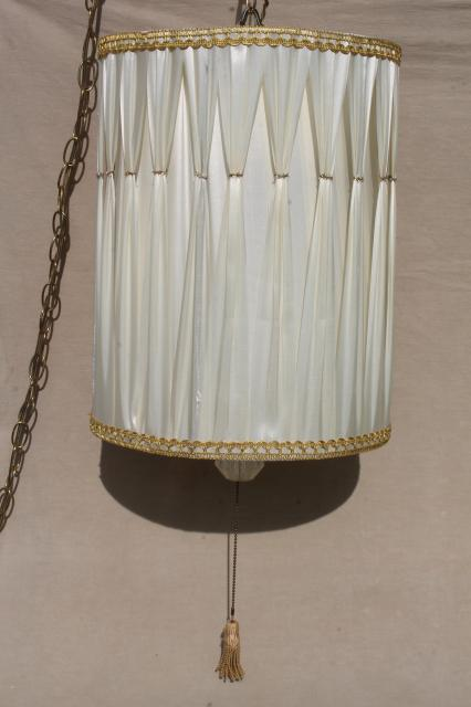 image vintage drum pendant lighting. Modren Lighting 60s Vintage Drum Shade Pendant Light Hollywood Regency White U0026 Gold  Lampshade Swag Lamp Throughout Image Vintage Drum Pendant Lighting
