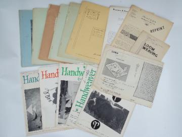 60s vintage hand weaving  weavers loom magazines lot, Handweaver etc.