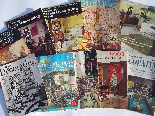 60s Vintage Home Decor Magazines Lot Retro Mod Furniture Decorating