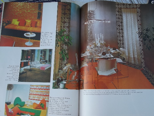 60s vintage home decor magazines lot, retro mod furniture & decorating