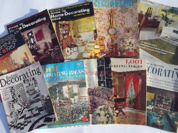 60s vintage home decor magazines lot, retro mod furniture & decorating