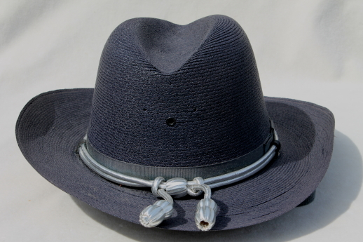 60s vintage Italian straw summer hat, ladies cowboy hat, western cowgirl The Lawman hat