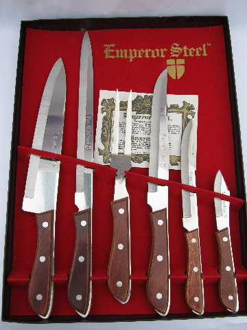 60s Vintage Japan Stainless Steel Carving Knives Emperor