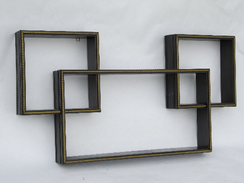 Retro Wall Art 60s vintage mod cubes modular shadow box shelves for retro wall art