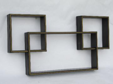 60s vintage mod cubes modular shadow box shelves for retro wall art