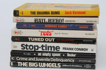 60s vintage paperbacks, hippie beatnik counter-culture radical delinquent youth