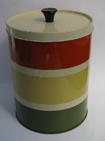 vintage retro kitchen canisters 60s vintage striped metal kitchen canisters retro 22597
