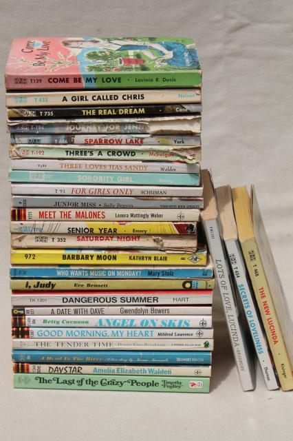 60S Vintage Teen Girl Romances, Young Adult Novels, Pulp -9303