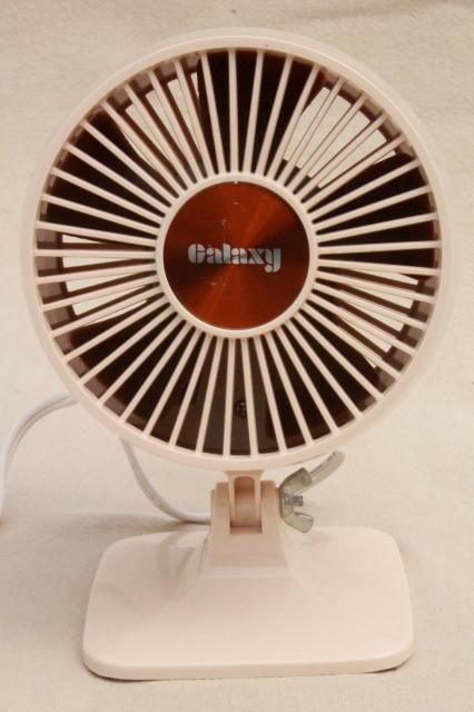 70s 80s Vintage Galaxy Electric Desk Or Table Fan Small