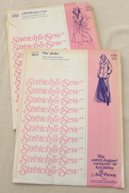 70s 80s Vintage Sewing Patterns Retro Fun Faux Fur Jacket Belted