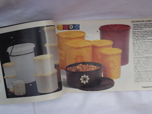70s 80s Vintage Tupperware Catalog 48 Pages Retro Colors Styles