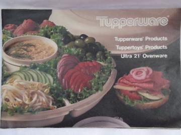 70s - 80s vintage Tupperware catalog, 48 pages, retro colors / styles