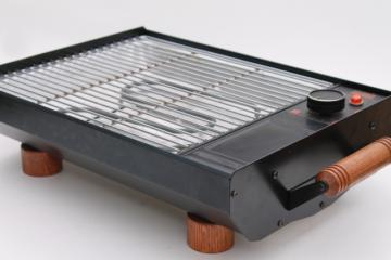 70s mod vintage indoor electric grill for patio barbecue or kitchen, Maverick MI-1505