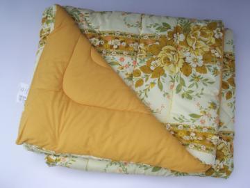 70s retro Beacon flower print comforter bedspread, mint in package
