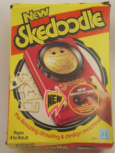 70s skedoodle drawing toy in box retro vintage hasbro