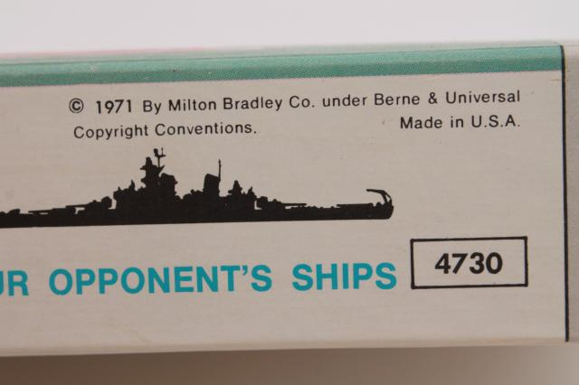 70s vintage Battleship game, complete w/ all of the plastic battleships
