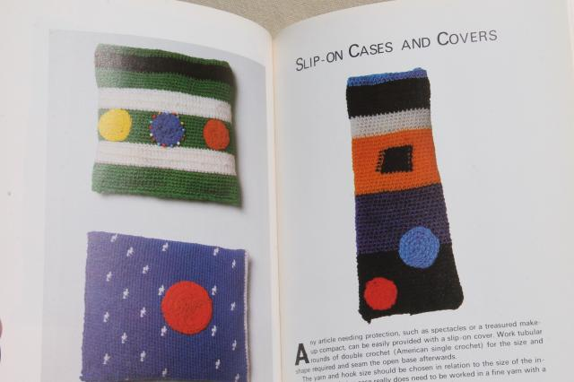 70s vintage Creative Crochet book of patterns, Louisa Calder Alexander Calder mod!
