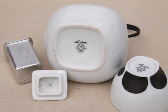 70s vintage Japan Noritake china tea set made for Japanese market, unused w/ customs label