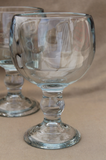 70s Vintage Beer Glasses Huge Heavy Glass Fishbowl Goblets For Candles Or Display Domes
