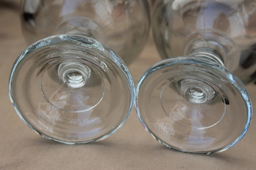 70s vintage beer glasses, huge heavy glass fishbowl goblets for candles or display domes