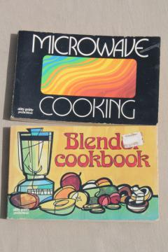 70s vintage cookbooks for the groovy cook, Nitty Gritty books Blender & Microwave recipes