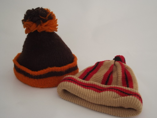 70s vintage knit hats 43d6889e90e