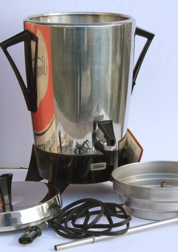 70s Vintage Sunbeam Party Percolator 30 Cup Pot Stainless