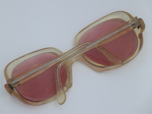 70s Vintage Sunglasses Blonde Eye Glasses Frames W Retro