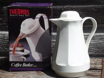 80s 90s Thermos Coffee Butler insulated plastic carafe pitcher, in box