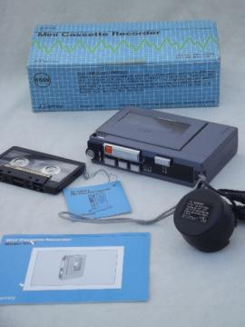 80s mini tape player, retro JCPenney  portable cassette recorder 681-6559