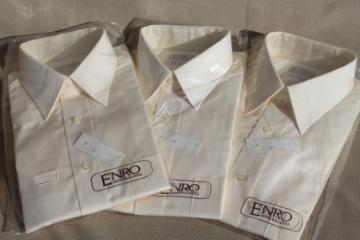 80s vintage 16 tall men's shirts, new old store stock Enro shirtbuilders label