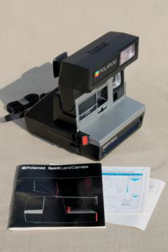 80s vintage Polaroid Land camera Spirit 600 w/ instructions manual & paperwork