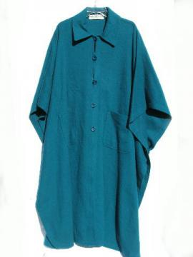 80's vintage teal green wool cloak coat, Hourihan - Ireland, one size
