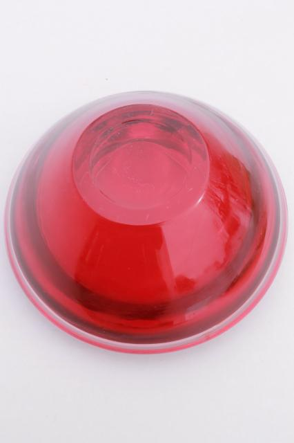 S vintage ruby red waterford crystal glass bowl large