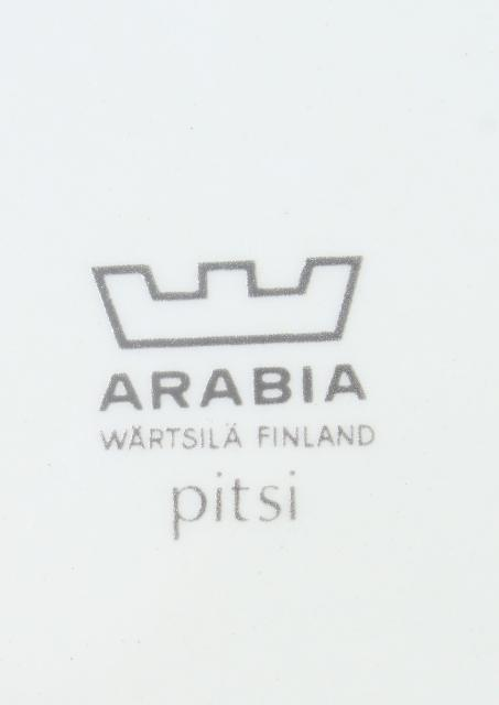 Arabia - Finland Pitsi white on white pattern mod dinnerware, huge serving platter