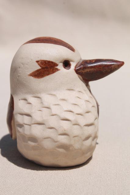 Australian Billabong Pottery Small Kookaburra Bird