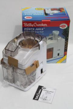 Betty Crocker Power Juicer juice extractor BC-1480 clean & complete