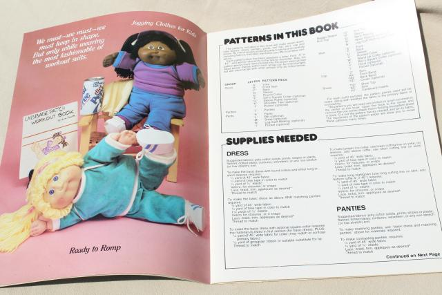 Cabbage Patch Kids designer doll clothes booklet, 25 outfits instructions & full size patterns