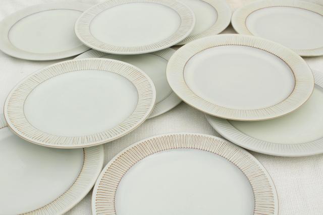 Cleopatra Fris Holland pottery mod vintage ceramic dinner plates set of 10 & Cleopatra Fris Holland pottery mod vintage ceramic dinner plates ...