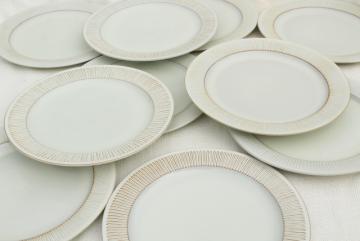 Cleopatra Fris Holland pottery, mod vintage ceramic dinner plates set of 10